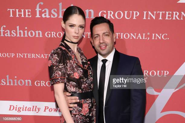 Coco Rocha and James Conran attend Fashion Group International's 2018 Night of Stars Gala at Cipriani Wall Street on October 25, 2018 in New York...