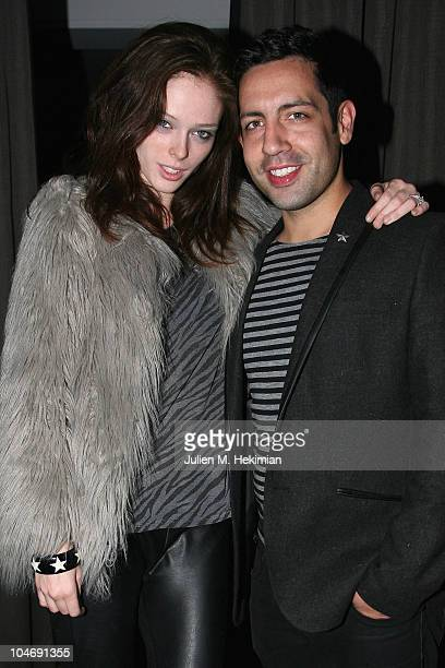 Coco Rocha and James Conran attend the Glamour Dinner for Lea Michele at La Societe on October 2, 2010 in Paris, France.
