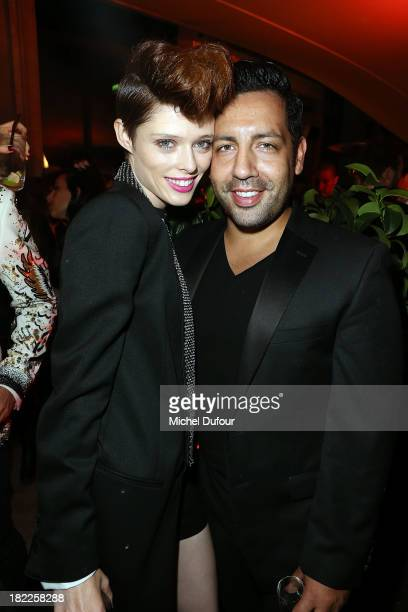Coco Rocha and James Conran attend The Pucci Dinner Party At Monsieur Bleu In Paris on September 28 2013 in Paris France