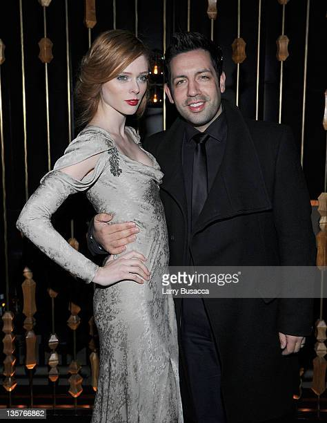 Coco Rocha and James Conran attend the The Iron Lady New York premiere after party at The Royalton Hotel on December 13 2011 in New York City