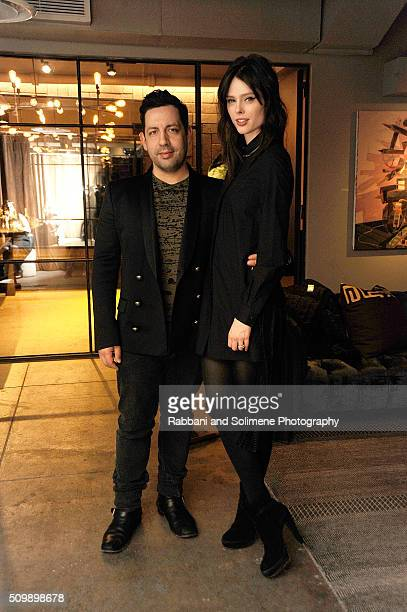 Coco Rocha and James Conran attends the 2016 International Woolmark Prize Reception at NeueHouse Madison Square in New York City.