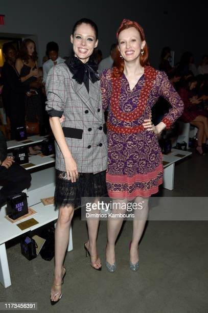 Coco Rocha and Karen Elson attend the Anna Sui front row during New York Fashion Week: The Shows at Gallery I at Spring Studios on September 09, 2019...