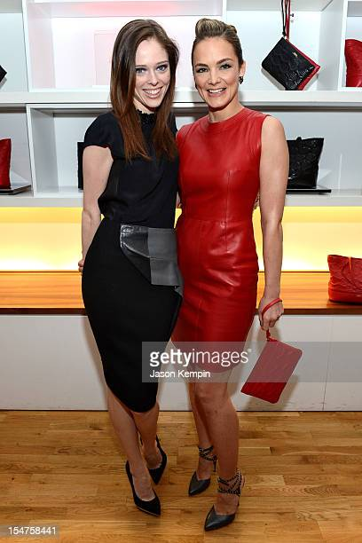 Coco Rocha and Katharina Harf attend Bally DKMS 'Lips for Life' Capsule Collection Launch cocktail party on October 25 2012 in New York City