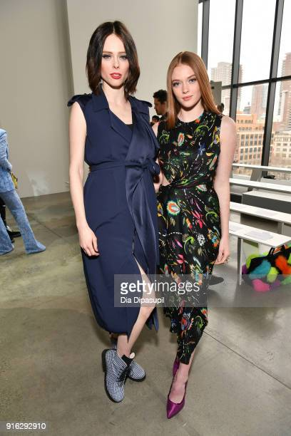 Coco Rocha and Larsen Thompson attend the Jason Wu front row during New York Fashion Week The Shows at Gallery I at Spring Studios on February 9 2018...