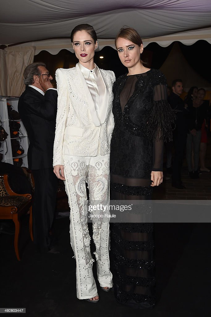 Coco Rocha and Olga Sorokina attend the 'Roberto Cavalli Annual Party Aboard' : Outside Arrivals at the 67th Annual Cannes Film Festival on May 21, 2014 in Cannes, France.