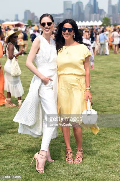 Coco Rocha and Rebecca Minkoff attend the 12th Annual Veuve Clicquot Polo Classic at Liberty State Park on June 01 2019 in Jersey City New Jersey
