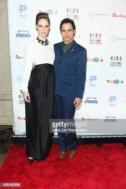 Coco Rocha and Zac Posen attend 2014 K.I.D.S./Fashion Delivers Gala at American Museum of Natural History on November 5, 2014 in New York City.