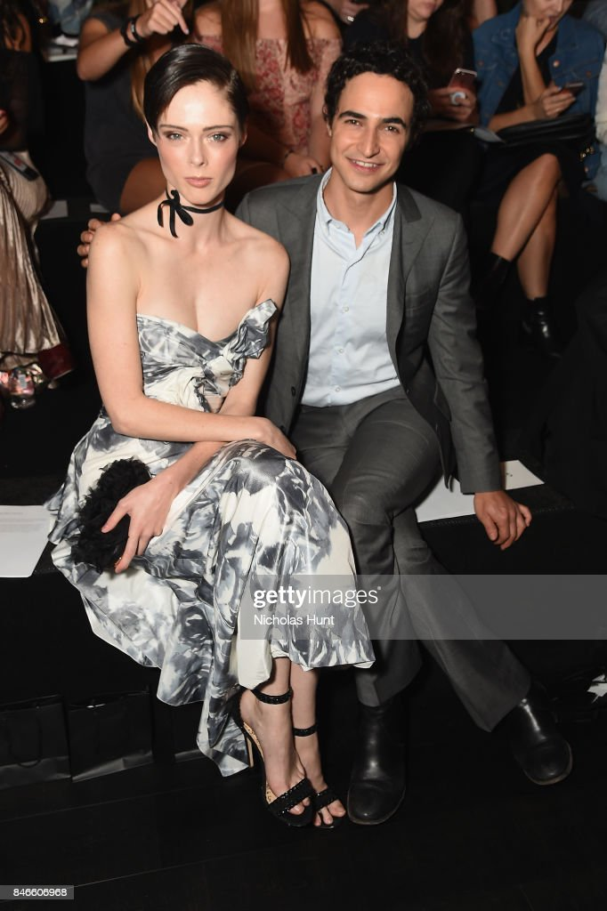 Coco Rocha and Zac Posen attend the Marchesa fashion show during New York Fashion Week: The Shows at Gallery 1, Skylight Clarkson Sq on September 13, 2017 in New York City.