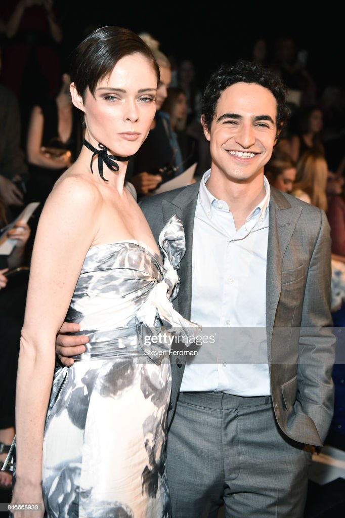 Coco Rocha and Zac Posen attend the Marchesa fashion show during New York Fashion Week: at Gallery 1, Skylight Clarkson Sq on September 13, 2017 in New York City.