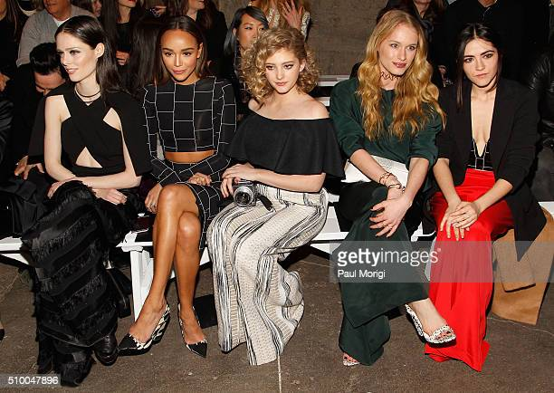 Coco Rocha Ashley Madekwe Willow Shields Leven Rambin and Isabelle Fuhrman attend the Christian Siriano Fall 2016 fashion show during New York...