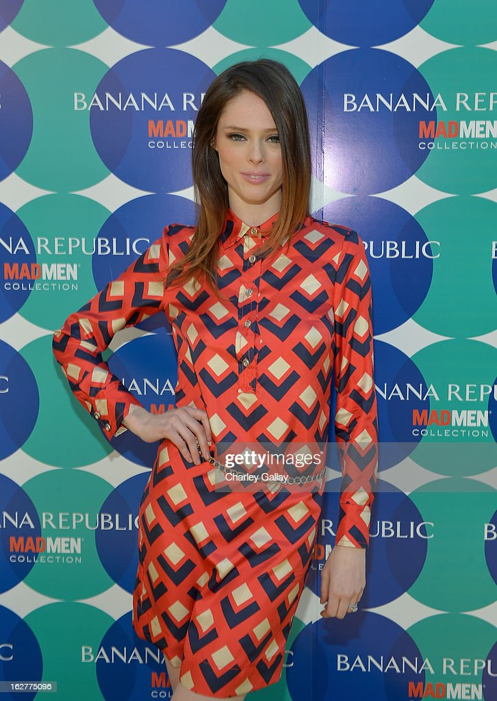 Coco Rocha at the Banana Republic Mod Pod on February 26, 2013 in Los Angeles, California.
