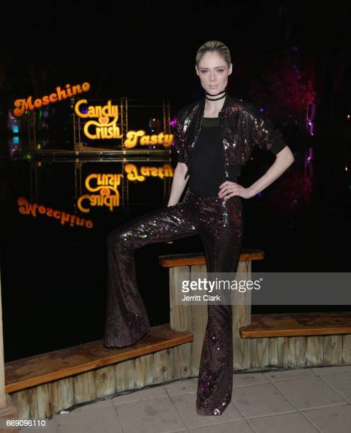 Coco Rocha attend the Moschino Candy Crush Desert Party hosted by Jeremy Scott on April 15 2017 in Coachella California
