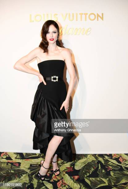 Coco Rocha attends a dinner hosted by Madame Figaro Louis Vuitton during the 72nd annual Cannes Film Festival at Terrasse Albane on May 18 2019 in...