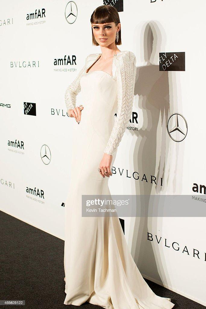 Coco Rocha attends amfAR Milano 2014 event during Milan Fashion Week Womenswear Spring/Summer 2015 on September 20, 2014 in Milan, Italy.