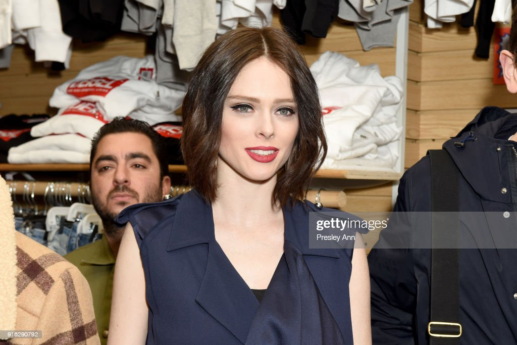 Coco Rocha attends Diesel's opening of a real knock-off store on Canal Street during NY Fashion Week on February 9, 2018 in New York City.