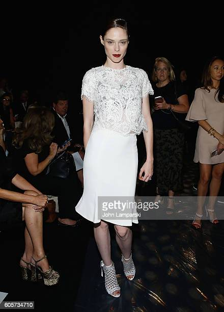 Coco Rocha attends Marchesa fashion show on September 2016 New York Fashion Week The Shows at The Dock Skylight at Moynihan Station on September 14...