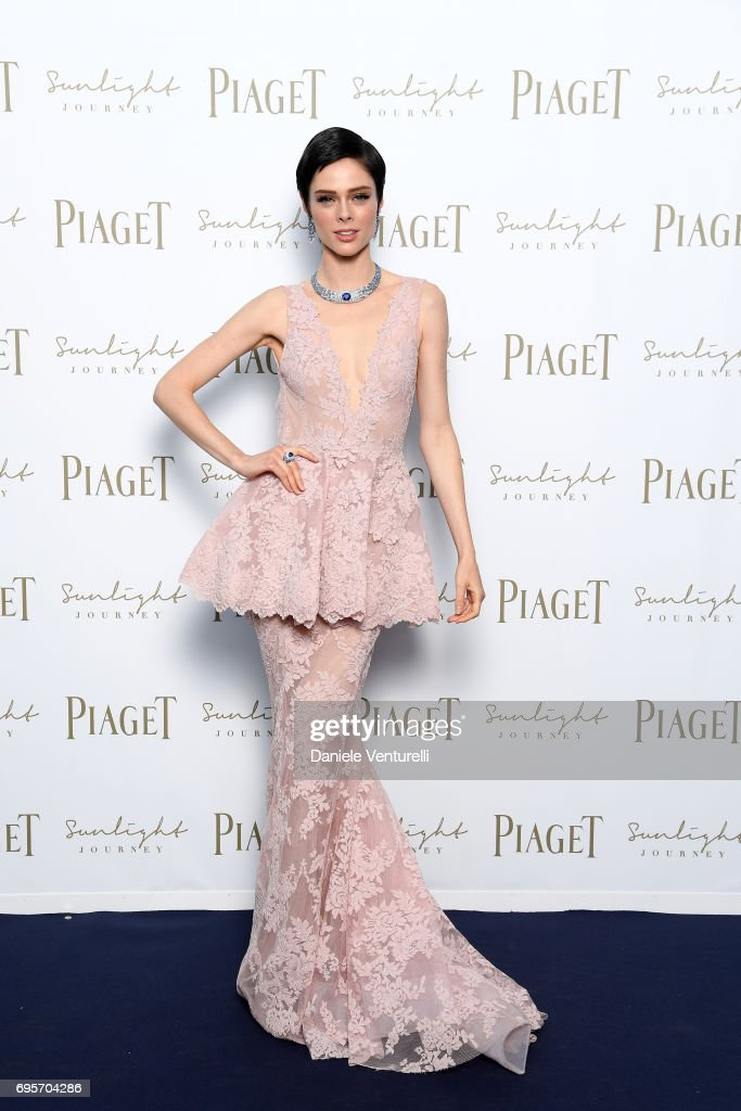 Coco Rocha attends Piaget Sunlight Journey Collection Launch on June 13, 2017 in Rome, Italy.