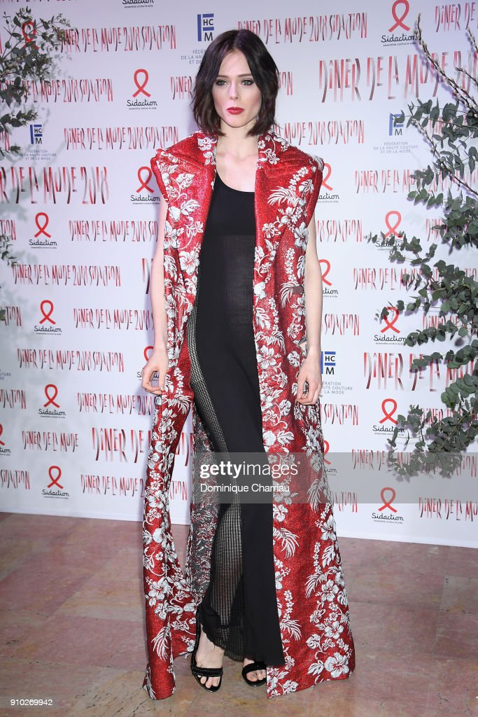Coco Rocha attends the 16th Sidaction as part of Paris Fashion Week on January 25, 2018 in Paris, France.