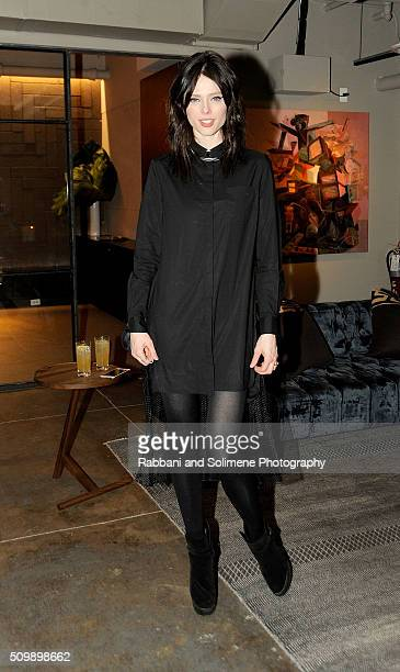 Coco Rocha attends the 2016 International Woolmark Prize Reception at NeueHouse Madison Square in New York City.