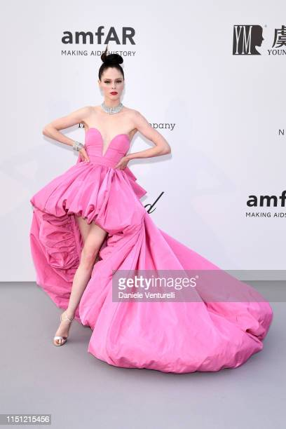 Coco Rocha attends the amfAR Cannes Gala 2019 at Hotel du Cap-Eden-Roc on May 23, 2019 in Cap d'Antibes, France.