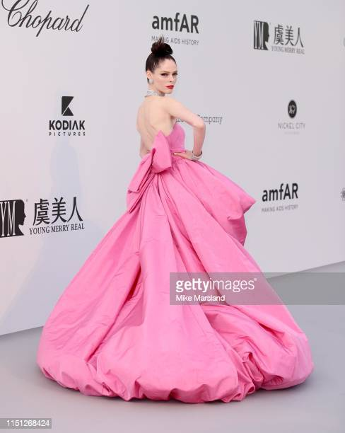 Coco Rocha attends the amfAR Cannes Gala 2019 at Hotel du CapEdenRoc on May 23 2019 in Cap d'Antibes France