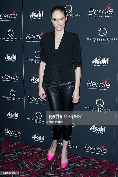 Coco Rocha attends the Bernie premiere at the AMC Loews 19th Street Theater on April 23 2012 in New York City