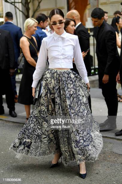 Coco Rocha attends the Christian Dior Haute Couture Fall/Winter 2019 2020 show as part of Paris Fashion Week on July 01 2019 in Paris France