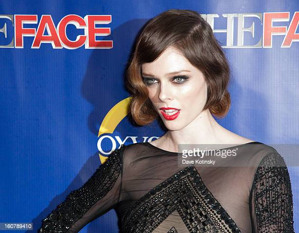 Coco Rocha attends 'The Face' Series Premiere at Marquee New York on February 5 2013 in New York City