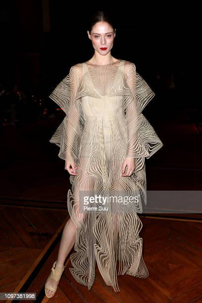 Coco Rocha attends the Iris Van Herpen Haute Couture Spring Summer 2019 show as part of Paris Fashion Week on January 21 2019 in Paris France