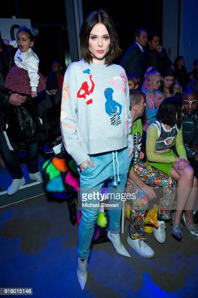 Coco Rocha attends the Jeremy Scott fashion show during New York Fashion Week at Gallery I at Spring Studios on February 8 2018 in New York City