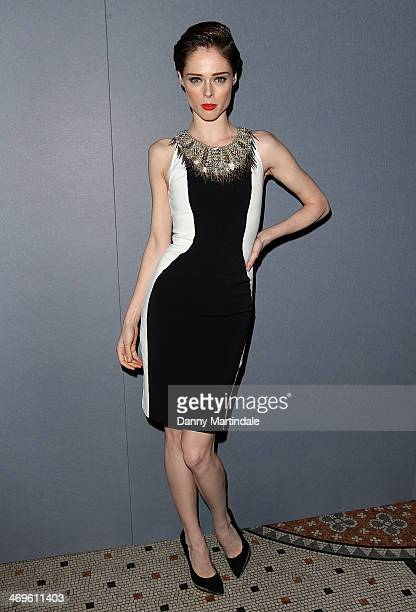 Coco Rocha attends the Julien Macdonald show at London Fashion Week AW14 at on February 15 2014 in London England