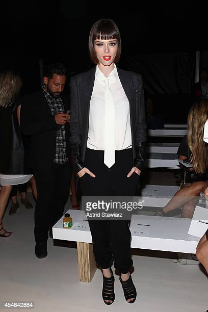 Coco Rocha attends the Marissa Webb fashion show with TRESemme during Mercedes-Benz Fashion Week Spring 2015 at The Salon at Lincoln Center on...