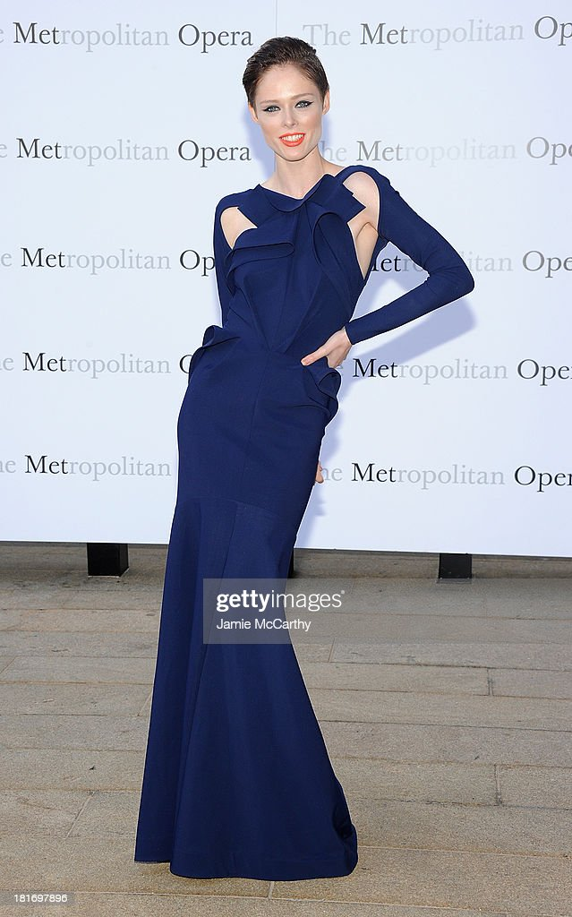 Coco Rocha attends the Metropolitan Opera Season Opening Production Of 'Eugene Onegin' at The Metropolitan Opera House on September 23, 2013 in New York City.