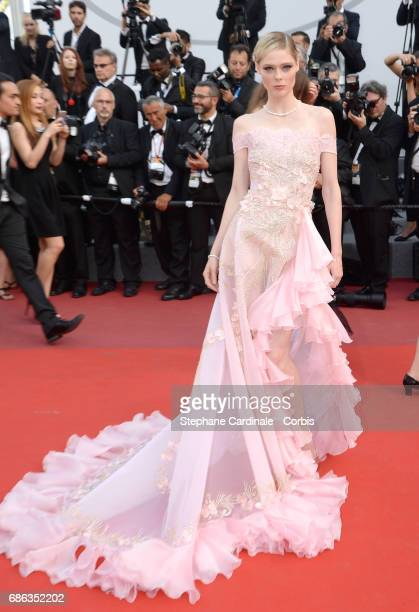 Coco Rocha attends 'The Meyerowitz Stories' premiere during the 70th annual Cannes Film Festival at Palais des Festivals on May 21 2017 in Cannes...