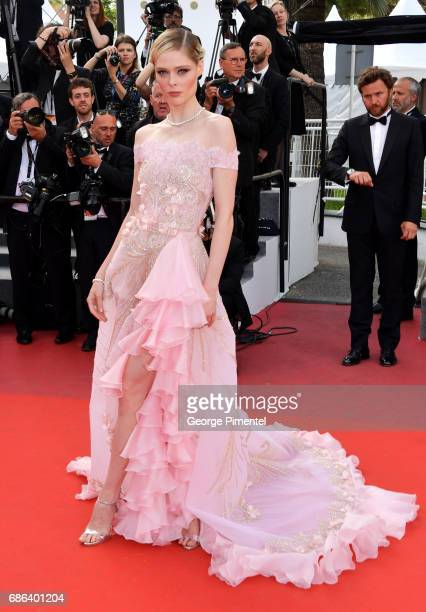 Coco Rocha attends 'The Meyerowitz Stories' screening during the 70th annual Cannes Film Festival at Palais des Festivals on May 21 2017 in Cannes...