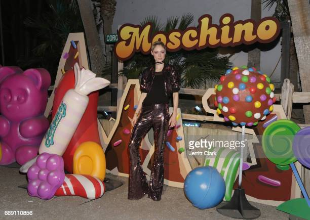 Coco Rocha attends the Moschino Candy Crush Desert Party hosted by Jeremy Scott on April 15 2017 in Coachella California