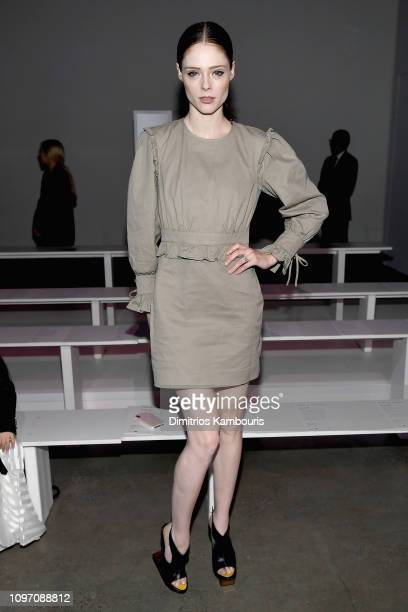 Coco Rocha attends the Rebecca Minkoff front row during New York Fashion Week The Shows at Gallery I at Spring Studios on February 10 2019 in New...