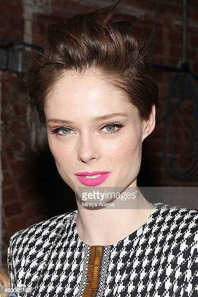 Coco Rocha attends the Sass Bide fashion show during MercedesBenz Fashion Week Fall 2014 at The Waterfront on February 12 2014 in New York City