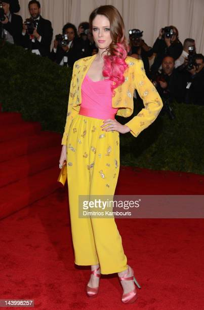 Coco Rocha attends the Schiaparelli And Prada Impossible Conversations Costume Institute Gala at the Metropolitan Museum of Art on May 7 2012 in New...