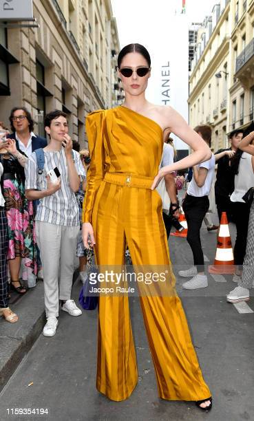Coco Rocha attends the Schiaparelli Haute Couture Fall/Winter 2019 2020 show as part of Paris Fashion Week on July 01 2019 in Paris France