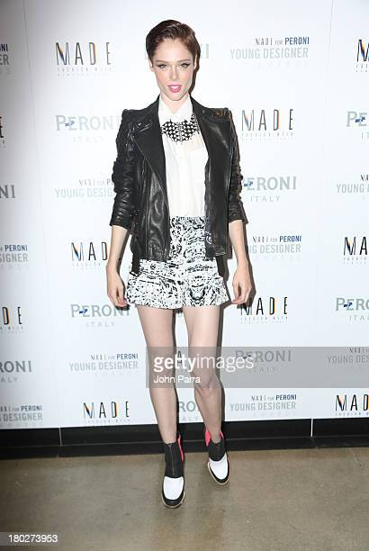 Coco Rocha attends the Second Annual MADE For Peroni Young Designer Awards At Milk Studios New York Awards at Milk Studios on September 10 2013 in...