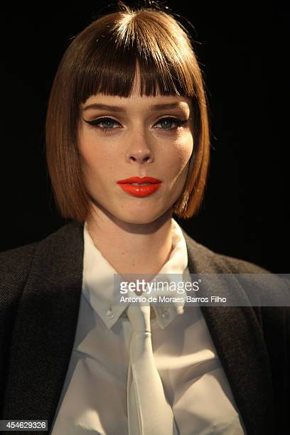 Coco Rocha attends the Supima show during Mercedes-Benz Fashion Week Spring 2015 at The Pavilion at Lincoln Center on September 4, 2014 in New York...