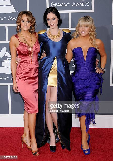 Coco Rocha Cheryl Hickey and Kim D'Eor arrive at the 52nd Annual GRAMMY Awards held at the Nokia Theater on January 31 2010 in Los Angeles California