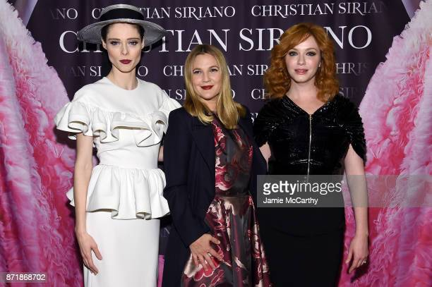 Coco Rocha Drew Barrymore and Christina Hendricks attend Christian Siriano celebrates the release of his book 'Dresses To Dream About' at the Rizzoli...