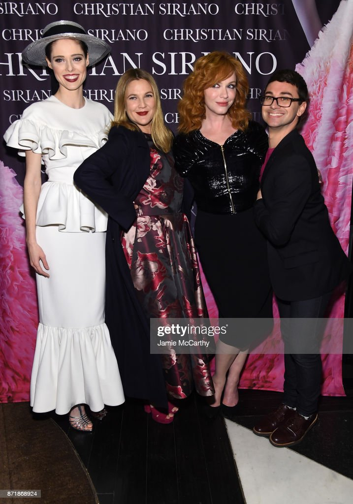 Coco Rocha, Drew Barrymore, Christina Hendricks, and Christian Siriano celebrate the release of his book 'Dresses To Dream About' at the Rizzoli Flagship Store on November 8, 2017 in New York City.