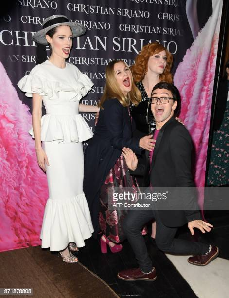 Coco Rocha Drew Barrymore Christina Hendricks and Christian Siriano attend the release celebration of his book 'Dresses To Dream About' at the...
