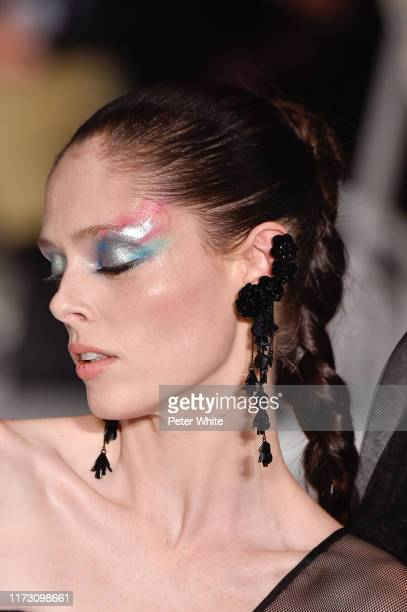 Coco Rocha fashion detail walks the runway for Christian Siriano during New York Fashion Week The Shows on September 07 2019 in New York City