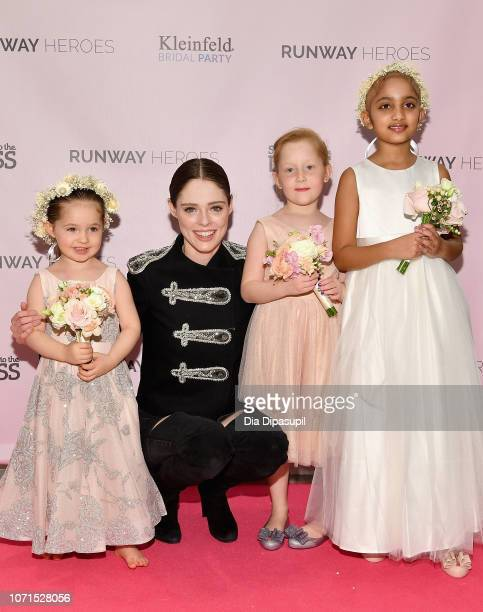 Coco Rocha her daughter Ioni James Conran and 30 30 childhood cancer fighters and survivors attend Runway Heroes to Benefit Childhood Cancer Research...
