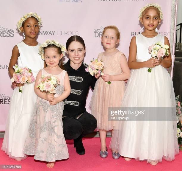 Coco Rocha her daughter Ioni James Conran and 30 childhood cancer fighters and survivors attend Runway Heroes to Benefit Childhood Cancer Research at...