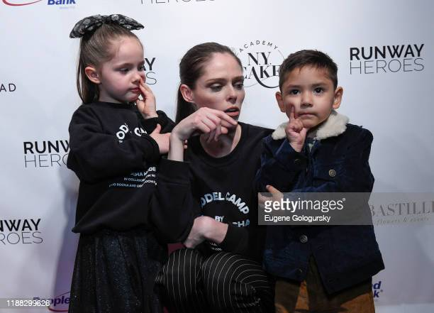 Coco Rocha, Ioni Conran and Runway Hero participants attend the Runway Heroes To Benefit Childhood Cancer Research at Glasshouse Chelsea on November...